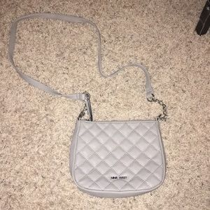 Gray quilted Crossbody